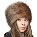Futrzane Russian Faux Fur Hat for Women - Like Real Fur - Comfy Cossack Style