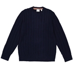 Burberry Blue Cable Knit Cashmere Sweater