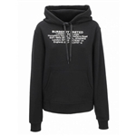 Burberry Location Print Cotton Oversized Hoodie in Black