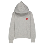 Comme Des Garcons Long-sleeve Embroidered Heart Logo Hoodie