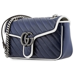 Gucci Ladies GG Marmont Small Shoulder Bag in Blue