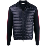 Moncler Lined Padded Panel Sweater in Dark Blue