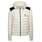 Moncler Lined Panelled Sweater In Ivory