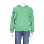 Polo Ralph Lauren Ladies Embroidered Logo Hoodie in Green