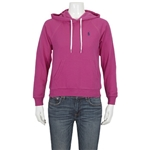 Polo Ralph Lauren Ladies Embroidered Logo Hoodie in Prink