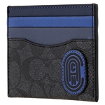 Mens Colorblock Signature Canvas Card Case With Coach Patch