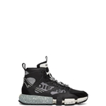 Diesel Black & Grey S-Padola Mid Trek Sneakers