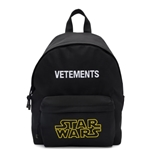 VETEMENTS Black STAR WARS Edition Logo Backpack
