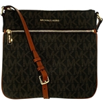 Michael Kors Womens Bedford Flat Signature Crossbody Cross Body Bag Tote