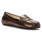MICHAEL Michael Kors Michael Michael Kors Womens Daisy Moc Leather Round Toe Loafers