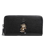 Coach COACH BASEMAN X ACCORDION ZIP WALLET IN POLISHED PEBBLE LEATHER
