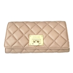 MICHAEL Michael Kors Michael Kors Astrid Quilt Leather Carryall Wallet (Ballet Pink/Gold)
