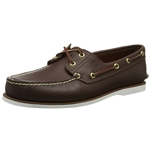 Timberland Mens Classic Two-Eyelet Rubber-Sole Boat Shoe