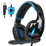 Sades SADES SA902 Gaming Headset Headphone Stereo 7.1 Channel USB wired with Mic Volume Control LED Light