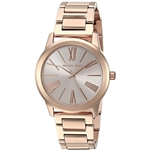 Michael Kors Womens Hartman Rose Goldtone 3 Hand Watch