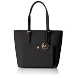 MICHAEL Michael Kors Jet Set Medium Top Zip Snap Pocket Tote