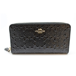 Coach Accordion Zip Wallet in Signature Debossed Patent Leather - F54805