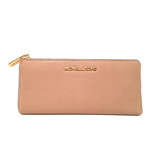 Michael Kors Bedford Large Three Quarter Zip Around Pebbled Leather Wallet