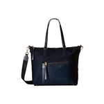 Michael Kors Womens Large Ariana Nylon Tote Nylon Shoulder Satchel - Navy