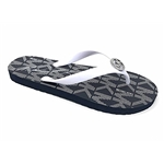 Michael Kors Jet Set PVC Logo Womens Flip Flops, Optic White