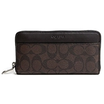Coach COACH ACCORDION SIGNATURE ZIP ROUND WALLET
