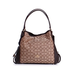 Coach Womens Edie 31 Signature Shoulder Bag