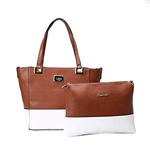 Artmis Leather Handbag Women Shoulder Tote Bag Business Shopper Purse Day Pack With Small Cross Body Pouch