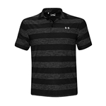 Under Armour Performance Mens Striped Golf Polo Shirt Anti Odor UPF 30 Top