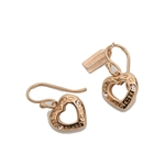 Coach COACH OPEN CIRCLE HEART DROP EARRING