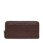 Coach COACH Signature Accordion Zip Around Wallet