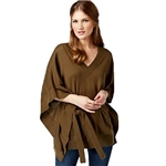 Michael Kors Asymmetrical Belted Poncho Cardigan Sweater