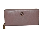 Michael Kors - Fulton Zip Around Continental Pebbled Leather Wallet - Dust Rose