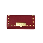 Michael Kors Callie Stud Saffiano Leather Carryall Wallet
