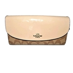 Coach Signature Slim Envelope Wallet (Khaki / Platinum)