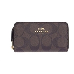 Coach COACH SMALL DOUBLE ZIP COIN CASE IN SIGNATURE