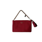 Coach Prarie Zip Pebbled Leather Wristlet 52943 Red
