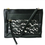 Coach Madison Felicia Crossbody in Two Tone Python Embossed Leather