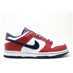 NIKE Womens Dunk Low White/Mid Navy/Deep Red Sneakers US 11.5