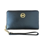 Michael Kors Fulton Large Flat Multifunction Leather Phone Case