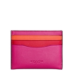 Coach Flat Card Case in Colorblock Glovetanned Leather Style No. 55721