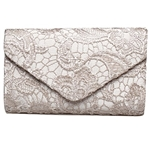 BaoLan Evening Clutch, Womens Floral Lace Envelope Clutch Purses For Wedding And Party