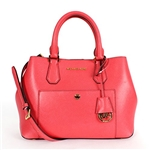 Michael Kors Greenwich Medium Tote WATERMELON/LUGGAGE/GOLD