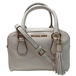 Michael Kors Bedford Small Tassel Leather Satchel Ecru