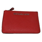 Michael Kors Jet Set Small Top Zip Coin Pouch with ID Holder - Saffiano Leather
