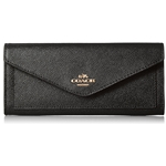 Coach COACH Womens Soft Wallet In Crossgrain Leather