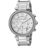 Michael Kors Womens Parker Silver-Tone Watch MK5353
