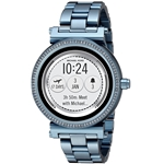 Michael Kors Access Womens Sofie Touchscreen Quartz Stainless Steel Casual Watch Color Blue (Model: MKT5042)