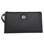 Michael Kors Fulton Large Leather Zip Clutch