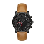 Michael Kors Access Mens Hutton Hybrid Smartwatch Quartz Stainless Steel and Leather Casual Watch, Color Brown (Model: MKT4026)