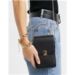 Asos ALDO Citrina structured cross-body with grab handle in black